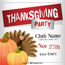 thanksgiving party flyer thanksgiving party flyer template vector free download