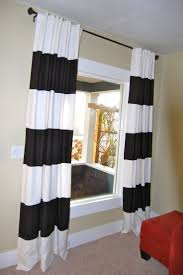 ... Cool Black And White Long Modern Cloth Black And White Curtains Swing  Design: ...