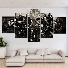 5panel Hd Gedrukt Sons Of Anarchy Tv Serie Muur Posters Canvas Art
