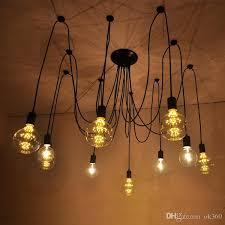 6 8 10 12 14 bulbs flexable light edison ancints vintage chandeliers diy ceiling pendant suspended lamp yellow pendant light nautical pendant lights from