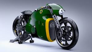 a never before ridden lotus motorcycle for sale at monterey car