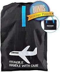 Zohzo Car Seat Travel Bag Drawstring Bag For Air Travel Black