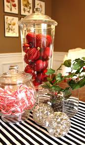 red and silver table decorations. Baby Nursery: Awesome Images About Christmas Dinner Table Decorations Chandelier Centerpieces And Dec: Medium Red Silver