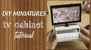 DIY Miniature TV Cabinet Tutorial | How to make a miniature TV Cabinet for  your Barbie Doll - YouTube