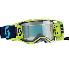 Details About Scott Prospect Wfs Mx Offroad Goggles Blue Yellow W Clear Lens