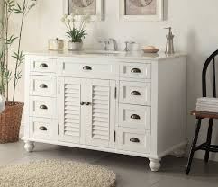 White Diy Antique Dresser With Cabinet And Single Sink For