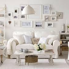 White Shabby Chic Living Room Furniture Shabby Chic Living Room With White Sofa And Framed Wall Photos