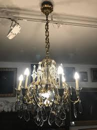 Monumentale Siebenflammige Deckenlampe Wohl Frankreich Um 1900