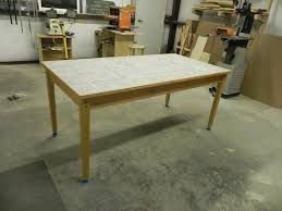 Astonishing Design Tile Dining Table Remarkable Cherry With Top