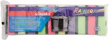 "<b>Набор</b> цветных <b>губок</b> Vileda ""Радуга"" для мытья <b>посуды</b>, 10 шт ..."
