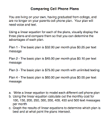 choosing a cell phone plan using linear