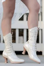 white cowboy boots, wedding boots, cowgirl boots, granny boots, Wedding Granny Boots \