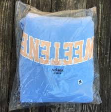 Light Blue Sweetener Hoodie Sold Out Limited Time Ariana Grande Collaboration Depop