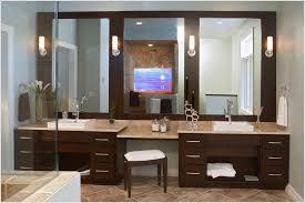 double vanity with makeup table attractive sink bathroom house decor regarding 11