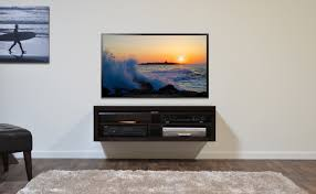 Floating Tv Stand Furniture Room Decorating Ideas With Small Black Floating Tv