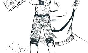 Coloring Pages Wwe Coloring Pages John Cena Printable Colouri Wwe