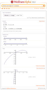 domain and range of x arccos x