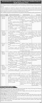 Provincial / Agency Nutrition Manager Required At Health Department ...