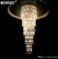 crystal glass chandelier ceiling light fixture large re de cristal lamp for staircase stairs crystal stair lamp for hotel and project chandelier
