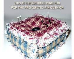 Ashlawnfarms Rag Quilt, Rag Quilted Pincushion, Pattern ... & Ashlawnfarms Rag Quilt, Rag Quilted Pincushion, Pattern - Instructions, PDF  Download, DIY Adamdwight.com