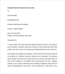 9 Business Cover Letters Samples Examples Formats Sample