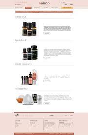 Essential Oil Website Design