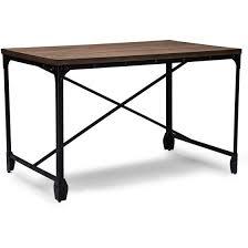 office wood desk. Baxton Studio Grayson Vintage Industrial Antique Bronze Home Office Wood Desk
