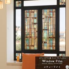 stained glass like window to put it again and again and to be able to tear off
