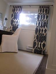 creative basement window curtains