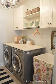 Simple Laundry Room Makeovers Beautifully Organized Small Laundry Rooms The Happy Housie