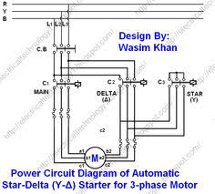 three phase motor connection star delta without timer power 3 Phase Delta Wiring Diagram the star delta (y Δ) 3 phase motor starting method by electrical wiringelectrical engineeringcircuit diagramelectric 3 phase delta motor wiring diagram