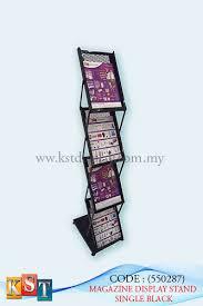 Single Magazine Display Stand Custom MAGAZINE DISPLAY STAND SINGLE BLACK KST