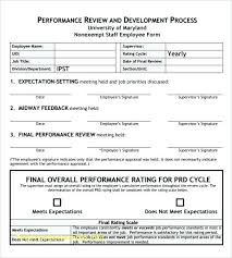 Sample Employee Performance Appraisal Sample Job Performance Evaluation Form 7 Documents In Appraisal