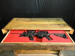 Secret partment Rifle Storage Table Furniture