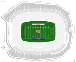 Us Bank Seating Chart Minnesota Vikings Seating Guide U S Bank Stadium