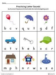 Letter Practicing Practice Beginning Letter Sound Worksheet In Color