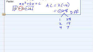 aleks factoring a quadratic with leading coefficient greater than 1 ac methond
