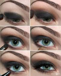 black eye makeup for green eyes