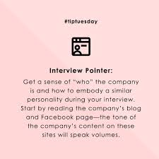 Interview Tip Interview Tip Additional Research Demonstrates Your