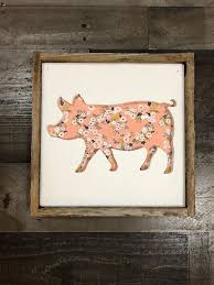 rustic pig silhouette reclaimed wood wall art pig wall decor farmhouse style sign wood pig reclaimed art kitchen decor pig decor reclaimed wood  on wooden pig wall art with rustic pig silhouette reclaimed wood wall art pig wall decor
