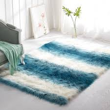 faux fur rug fake bear rug faux sheepskin area rug