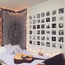 but a mandala wall paper or bed sheet can also work put lights at the sides of bed sheet stick it to one wall and put some photographs and posters on
