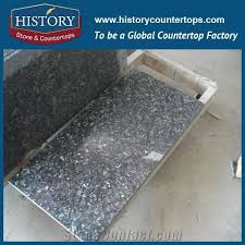 history stone hgj139 silver pearl customized shape granite countertop covers with high polished flat edge countertops bathroom vanity top