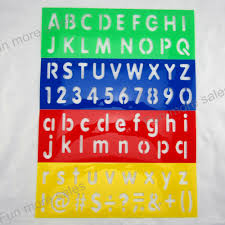 4designs set stencils for painting kids digital number drawing templates plastic english letters boards baby