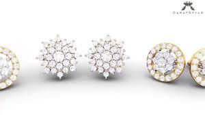 Designer Diamond Stud Earrings Knot Of Diamonds Jewellery Cluster Collection Designer Diamond Earrings