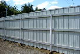 image of sheet corrugated metal fence