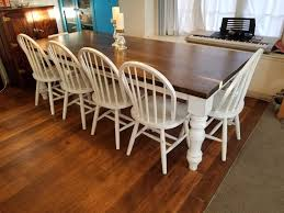 amazon chunky unfinished farmhouse dining table legs set of 4 turned legs