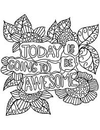 Today Is Going Be Awesome Coloring Page Free Printable Coloring Pages