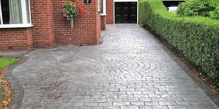 stamped concrete driveway and patio