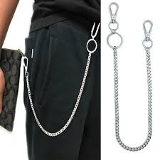 38cm <b>Long Metal Wallet</b> Belt Chain Rock Punk Trousers Hipster ...